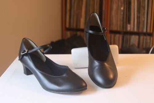 "Danshuz 3317 Black Character 1 3/4 "" Heel Mary Jane Dance Shoes Size 10 Medium"