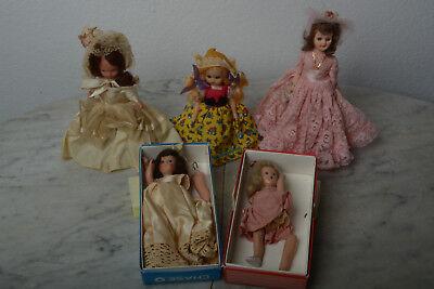 5 Nancy Ann Storybook Dolls Needing TLC