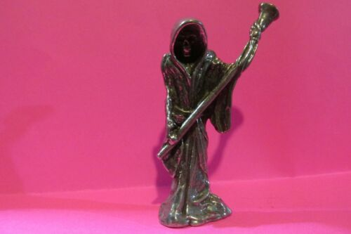 Pewter Grim Reaper Figurine Made In USA   2 1/2 Inches tall