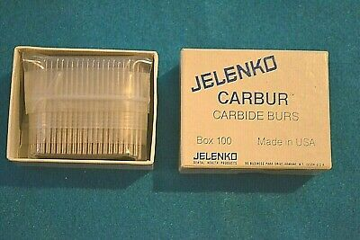 Jelenko Carbide Burs For Hp 35 Hp Inverted Cones Packs Of 100 New Old Stock