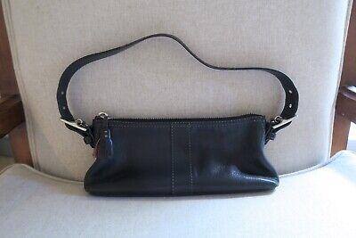 Coach Black Leather Small Shoulder Bag Purse Handbag