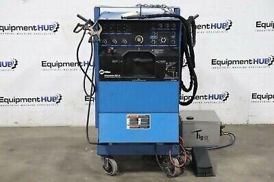 Miller Syncrowave 350 Amp Tig Welder W Tig-er Dynaflux Torch Cooling System