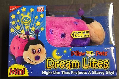 Pillow Pets Mini Dream Lites That Projects A Starry Sky Hot Lady Bug As Seen TV