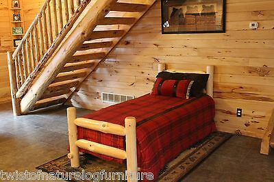 Space Saver WESTERN CORRAL LOG BED   (complete bed)- Ships Free!!   Pine Log Bed