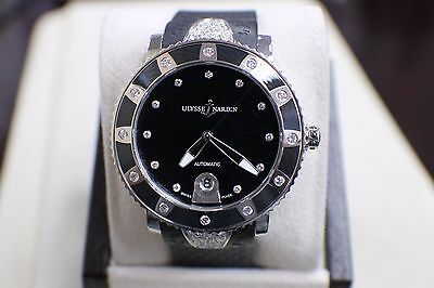 ULYSSE NARDIN MAXI MARINE DIVER AUTOMATIC 8103-101 WITH DIAMONDS BOX & PAPERS