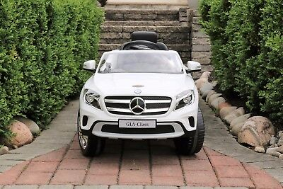 Mercedes-Benz GLA White Licensed Dual Motor 12V Kids Ride-On Car Remote Control