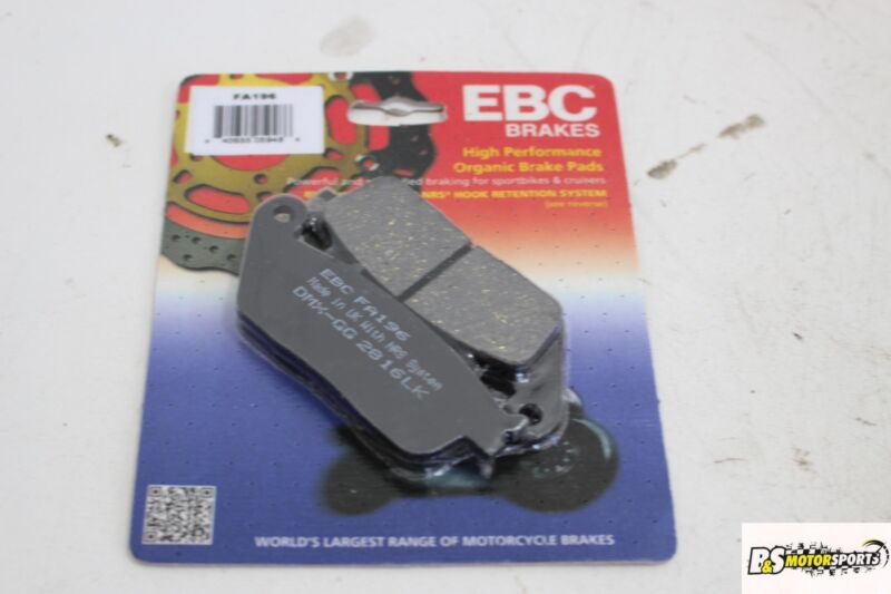 Details about Ebc Front Rear Back Brake Pads FA196 FA 196 Organic Indian  Victory Honda Suzuki