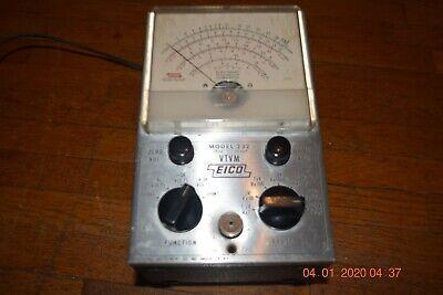 vintage working eico peak to peak 232 vtvm