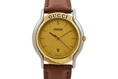 Vintage Gucci 8000L Quartz Bi-Metal Steel Ladies Watch 1985