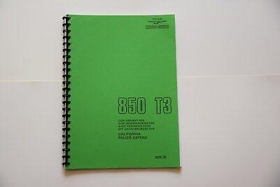 850 T3  Moto Guzzi Parts Book