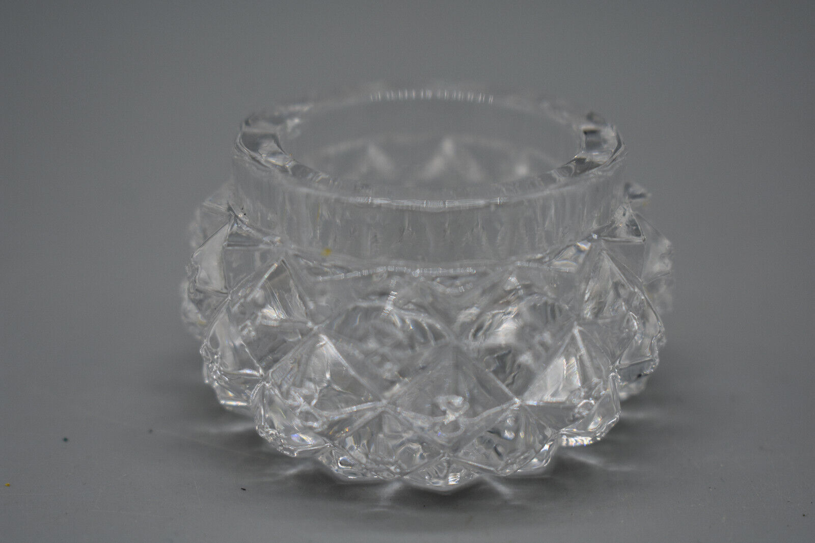 Cut Leaded Miniature Glass Bowl. Ring Size, 2 1/4 Wide, 1 1/4 Deep - Preowned - $14.99
