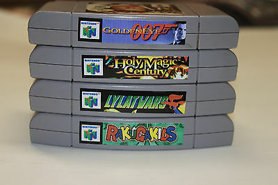 PAL - Nintendo N64 PAL Cartridge Spine Top End Labels - ALL PAL GAME LABELS