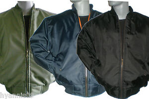 MA1-MENS-SECURITY-PILOT-FLYING-MILITARY-BOMBER-DOORMAN-BIKER-BLACK-JACKET-COAT