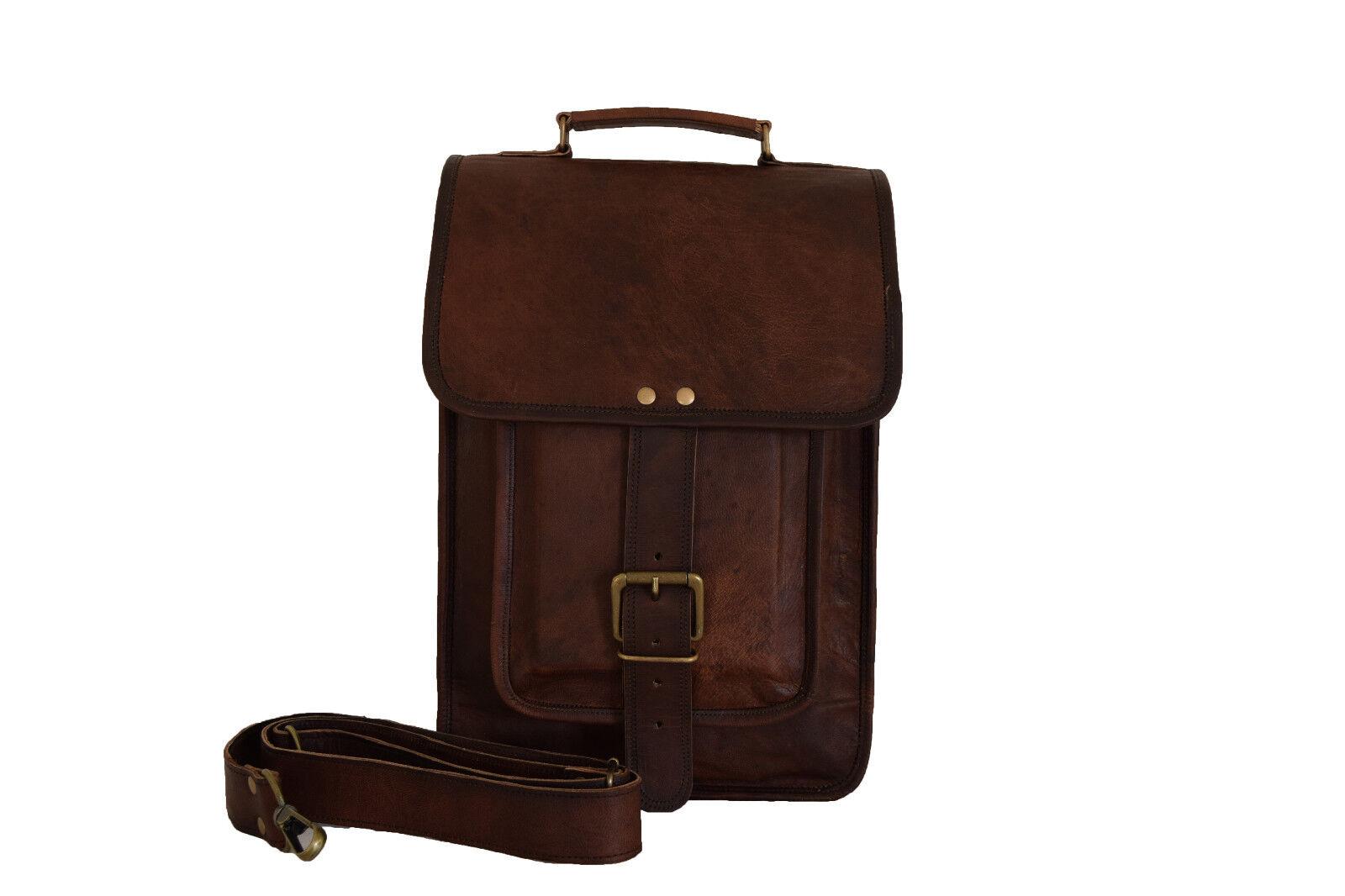Leder Umhängetasche Aktentasche 13 Zoll Laptop Schultertasche Messenger Bag