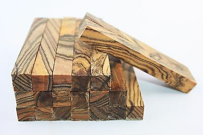 """Exotic Olive tiger stripe wood pen/small turning project blank 5""""x3/5""""×3/5"""""""
