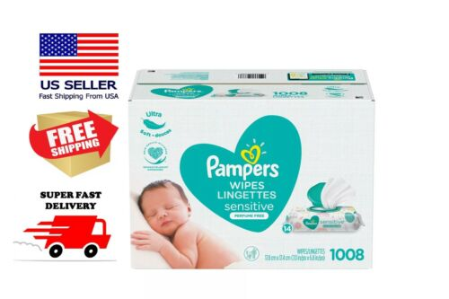 Pampers Sensitive Baby Wipes 1008-count Perfume Thicker FAST DELIVERY!!!