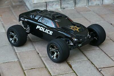 Police Custome (Custom Body Police Sheriff for Traxxas Rustler VXL 1/10 Truck Car Shell)