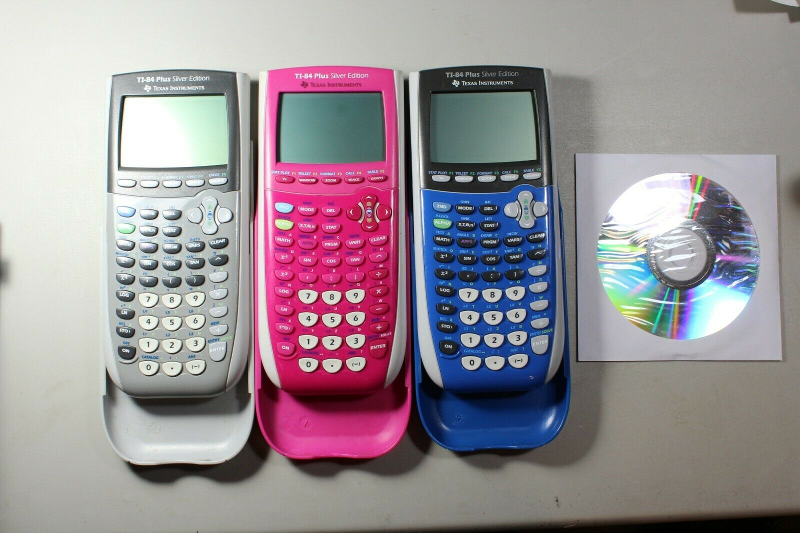 Texas Instruments TI-84 Plus Silver Edition Pink Blue Graphi