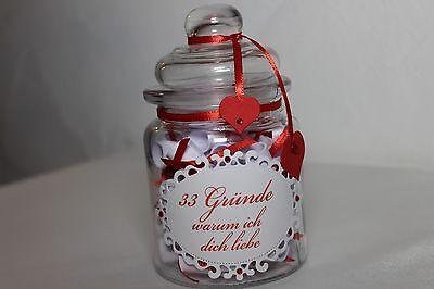 Geschenk mit 33 Gründen zum Valentinstag Hochzeitstag Jahrestag Geburtstag