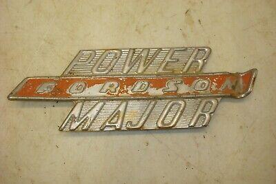 Fordson Power Major Emblem