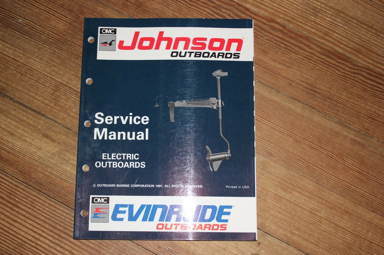1991 Electric Outboards Service Manual Johnson/Evinrude P/N 508140 NEW