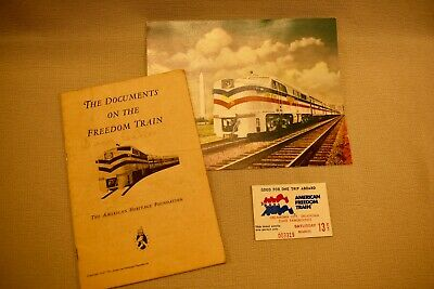 RR Advertisement Book - Documents on the Freedom Train 1947 -+Official PO Card +