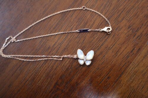 Van Cleef & Arpels, Two Butterfly pendant Rose gold, Mother-of-pearl, Diamond