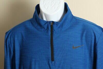 Nike Men's royal blue with black logo Dri-Fit 1/2 zip Jacket shirt Small S