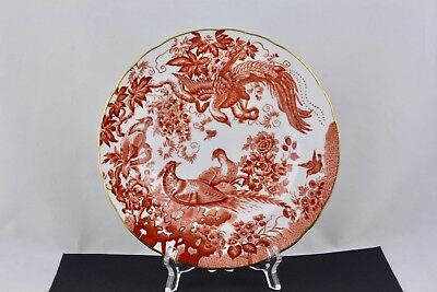 ROYAL CROWN DERBY RED AVES SALAD PLATE BONE CHINA #1 - ENGLAND