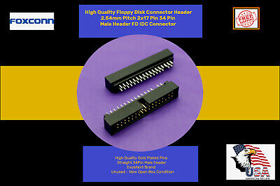 2.54mm Pitch 34 Pin Male Header Fd Idc Connector - Foxconn - 5pcsships Free