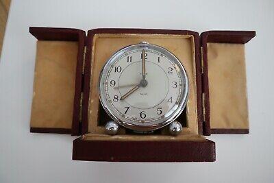 Smiths vintage alarm clock in case