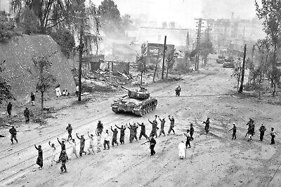 1950 Seoul South Korea-American M26 Pershing Tanks-North Korean Prisoners of War