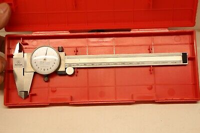 Mitutoyo 505-646-50 505 646 50 Shock Proof Metric Dial Caliper In Case 0.02mm