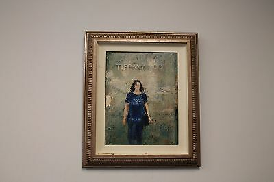 Oil painting woman/ Tiffany& Co store (Original Tiffany Store)