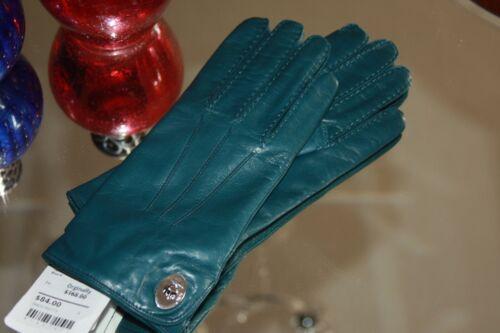 Coach Leather Turn lock glove Moroccan Blue  Women