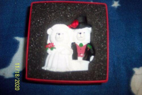 Mr. & Mrs. Santabear Christmas Ornament 2000 Dayton Hudson in box EUC