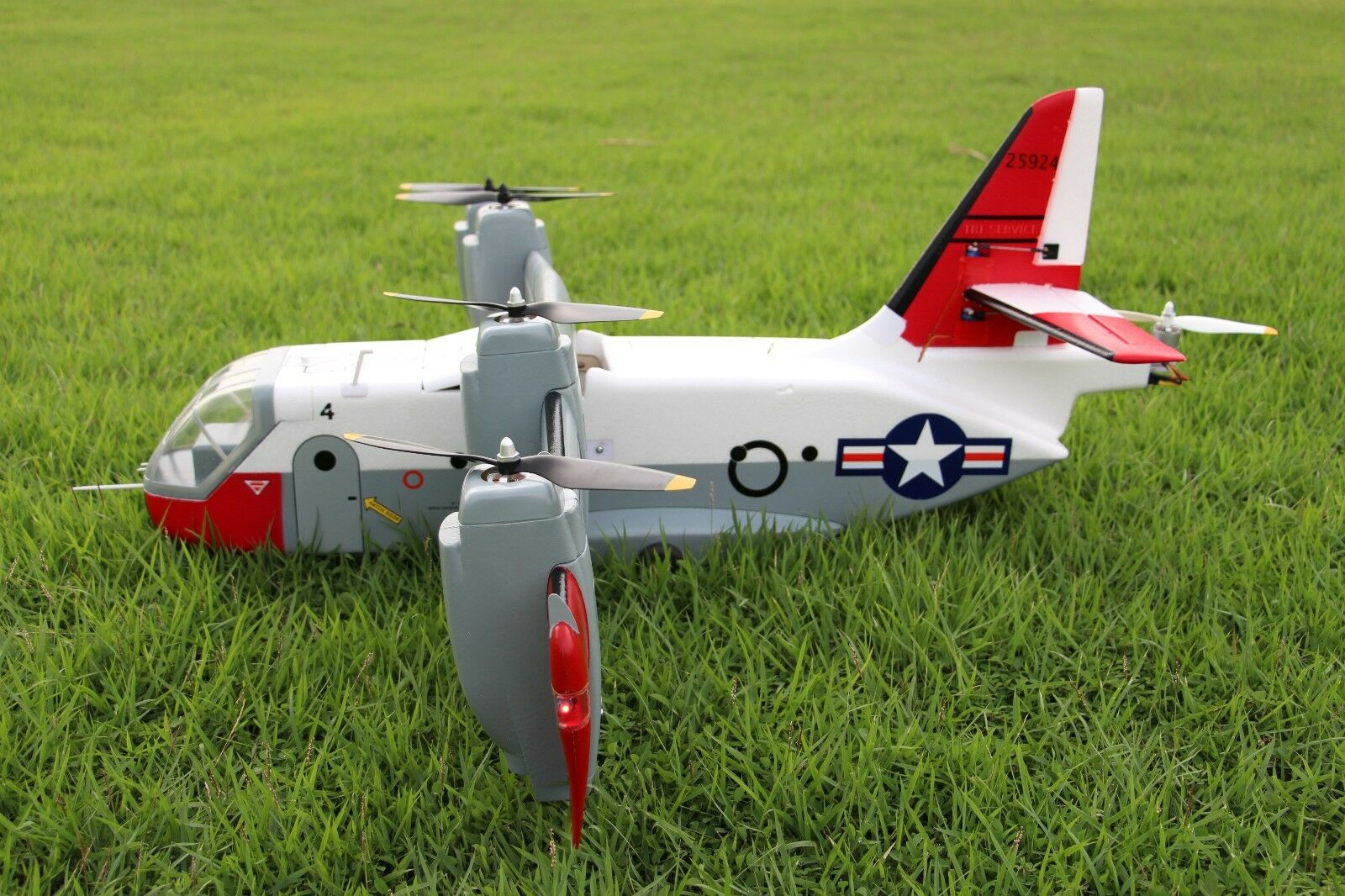 Unique RC Scale Model Fly Airplane US XC142 Dynavert Tilt