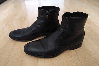 Navyboot Schuhe Boots Stiefel 44 schwarz Leder - Herren Stiefel Schwarz
