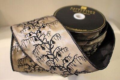 Katherine´S Collection Halloween Cordino 1Meter Banda Tabella 10cm Ampio Oro