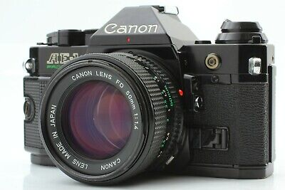 [Excellent+++++] CANON AE-1 Program Black w/ New FD 50mm f/1.4 from JAPAN017