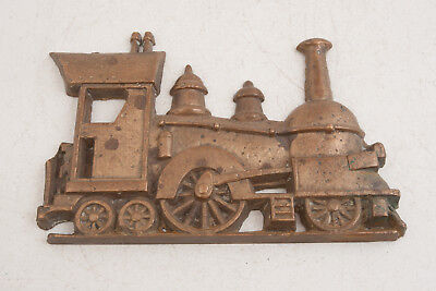 "Heavy Bronze Choo Choo Train 3D Plaque (A2L)Steam Locomotive Picture 8.5"" 3.8lbs"