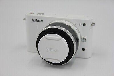 Nikon 1 J1 Mirrorless Camera & 10-30mm Lens - White Shutter Count 1,835 #K71243