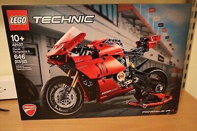 LEGO TECHNIC 42107 Ducati Panigale V4 R Building Kit 646 Pcs FREE Next Day