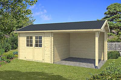 Gartenhaus Mit Fußboden 28mm ~ 28 mm gartenhaus mit anbau gerätehaus blockhaus