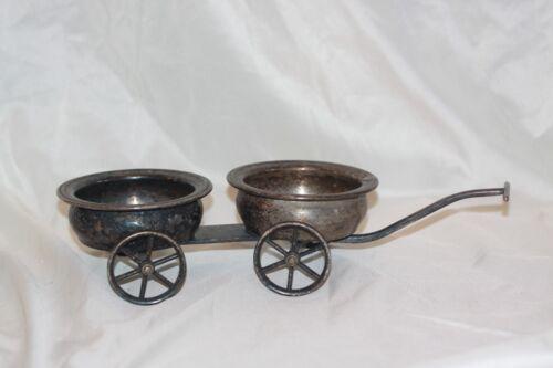 F B Rogers Silver Company 1883 Wheeled Cart Wagon Condiment Dish Planter