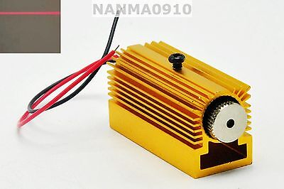 Focusable 650nm 5mw Line Red Laser Diode Module W Glass Lens 12mm Heatsink