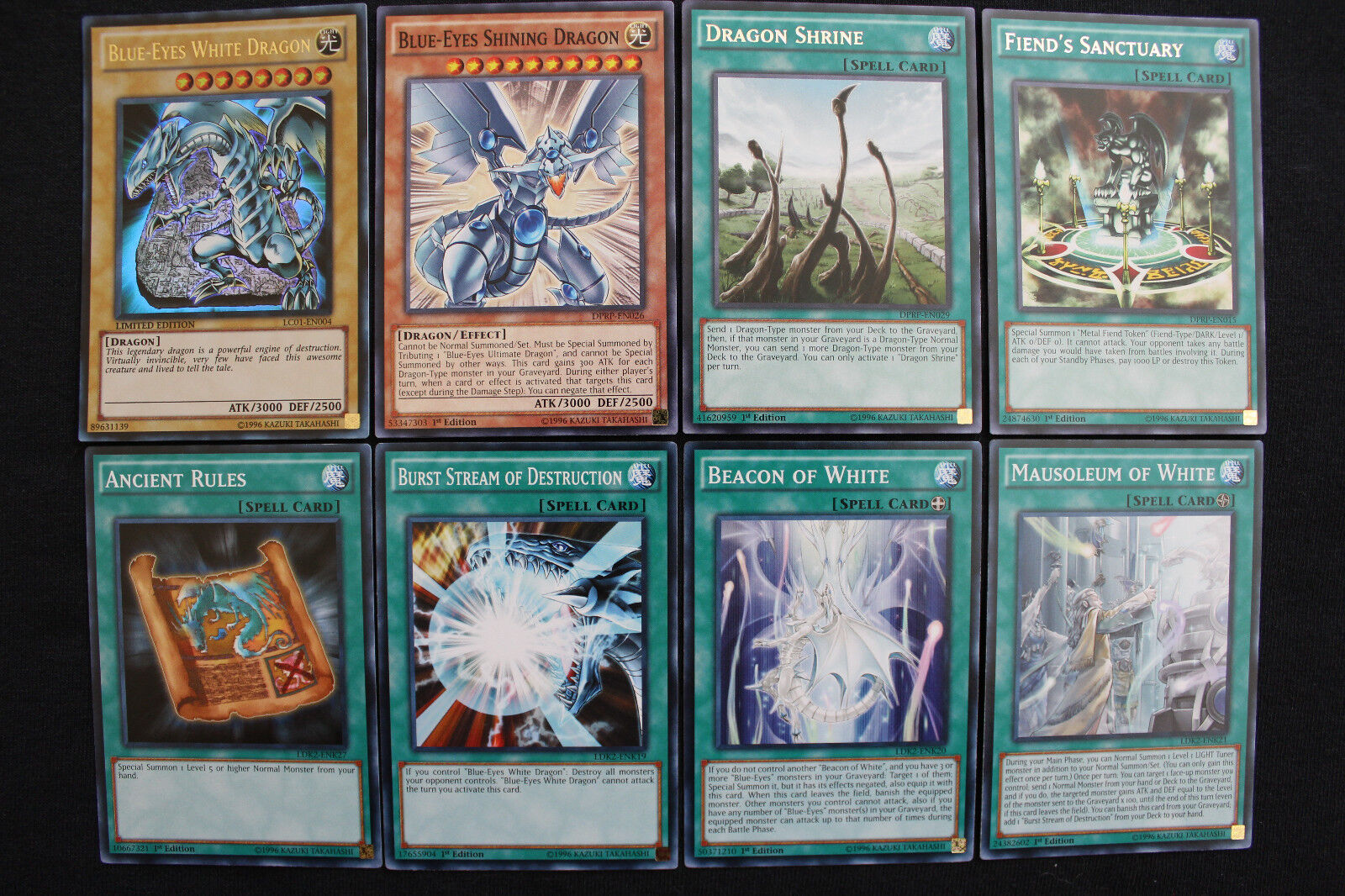 blue eyes white dragon deck set shining shrine ancient rules