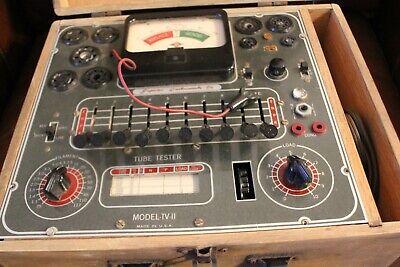 Vintage Superior Instruments Model Tv-ii Tube Tester With Wooden Case