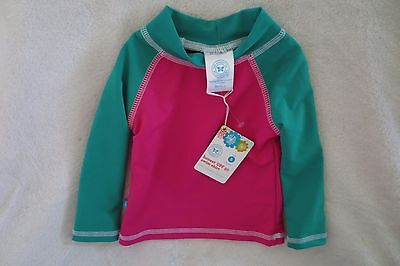 - The Honest Company Infant Baby Girl Pink/Green Swim Top 3-6 months /S