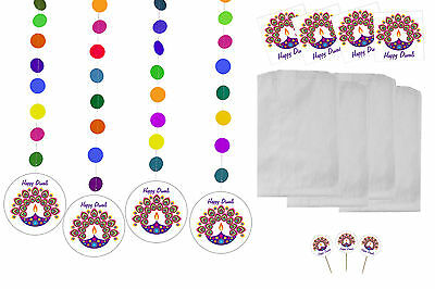 Diwali Holiday Party Supplies (Diwali Light Design Party Pack) USA FAST SHIPPING